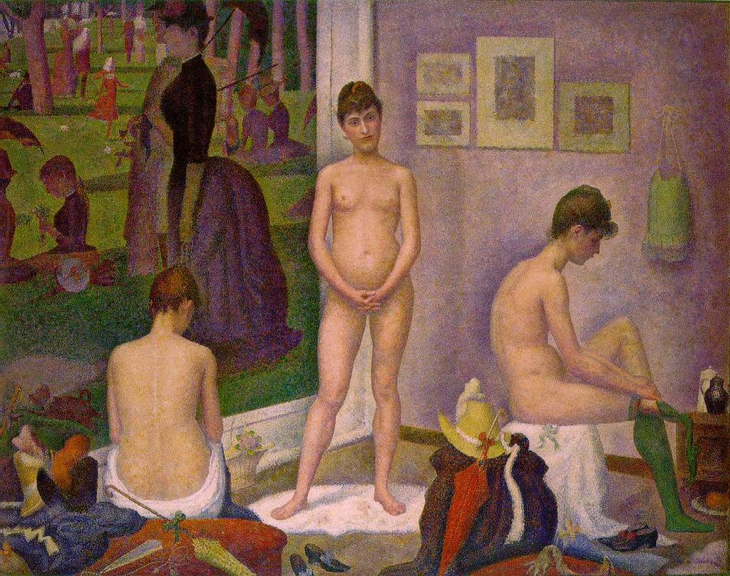 The models (1886-1888) by Georges Seurat