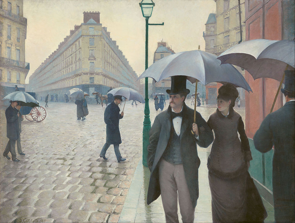 Paris Street; Rainy Day (1877) Gustave Caillebotte