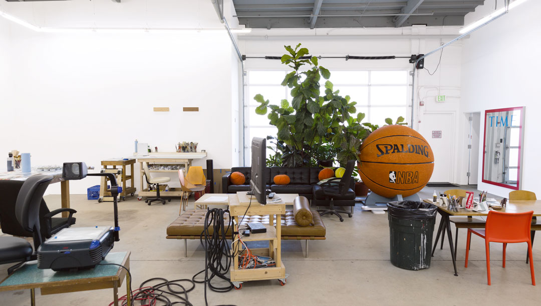 Jonas Wood's studio