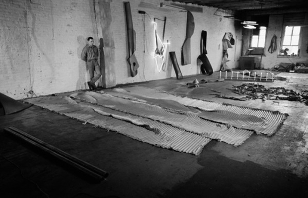 Richard Serra in his studio, New York, 1968
