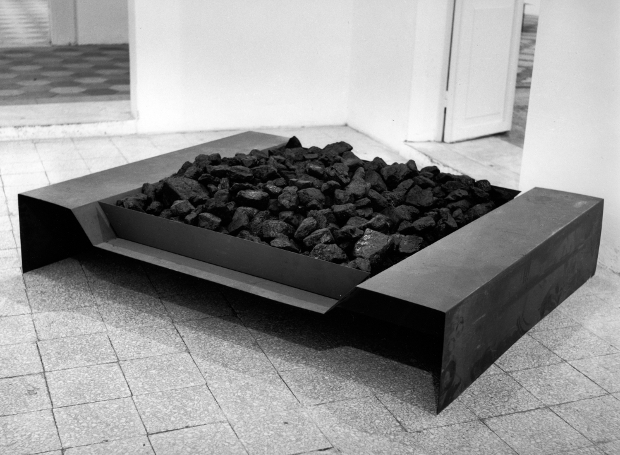 Untitled (The coal bin) (1967) by Jannis Kounellis