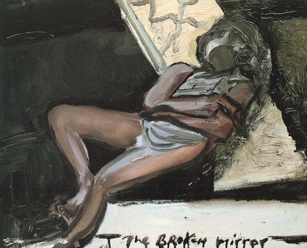 Broken Mirror (1988-89) by Marlene Dumas