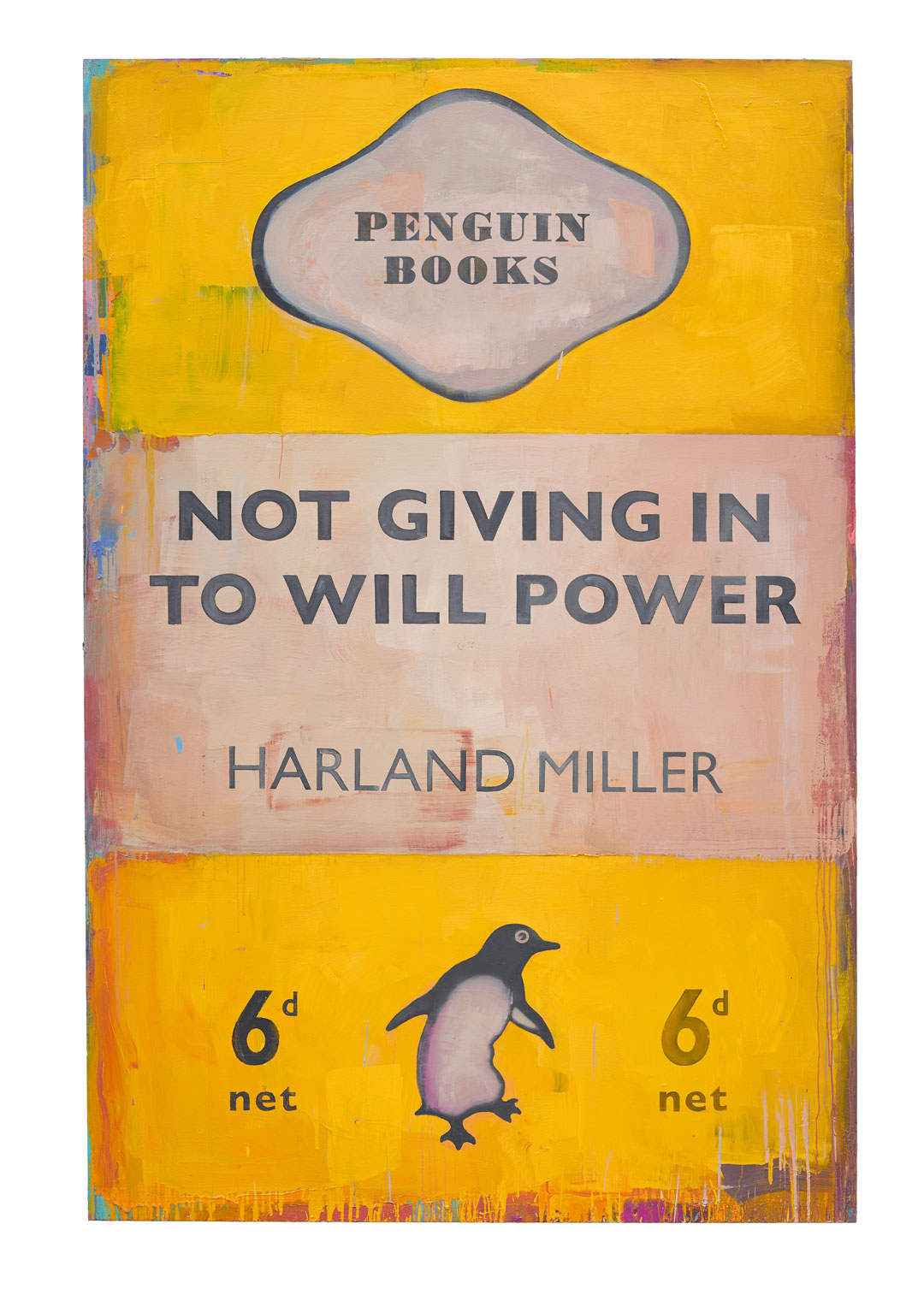 Not Giving In To Will Power, 2018, oil on canvas, 236 × 156.5 cm (92 15/16 × 61 5/8 in). © Harland Miller