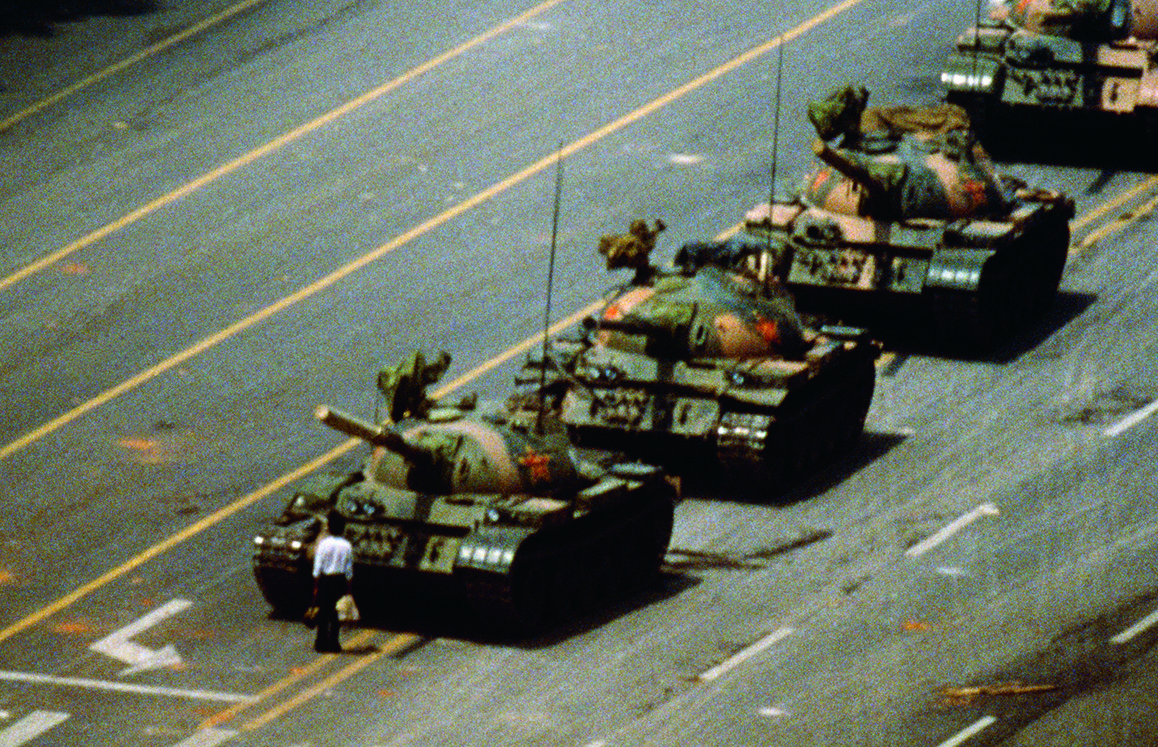 Detail from Tank Man, Tiananmen Square, Beijing, China, 1989 by Stuart Franklin