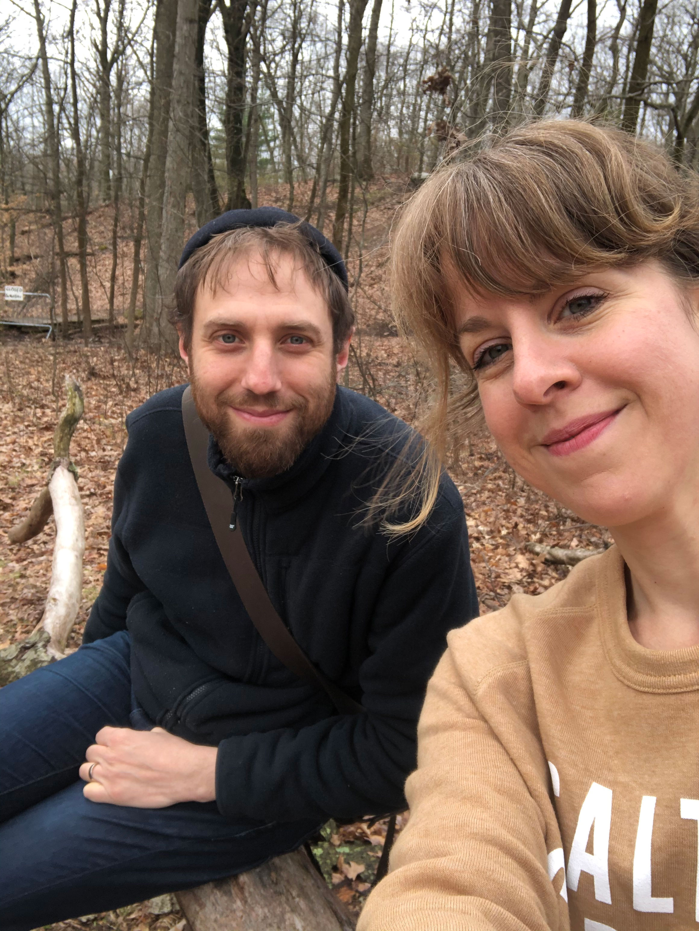 Leah Koenig and husband Yoshie on one of thier family hikes out of Brooklyn