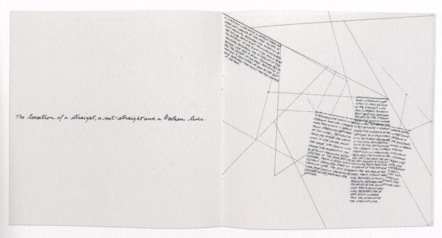 The Location of a Straight Line, A Not Straight Line and a Broken Line (197) by Sol LeWitt