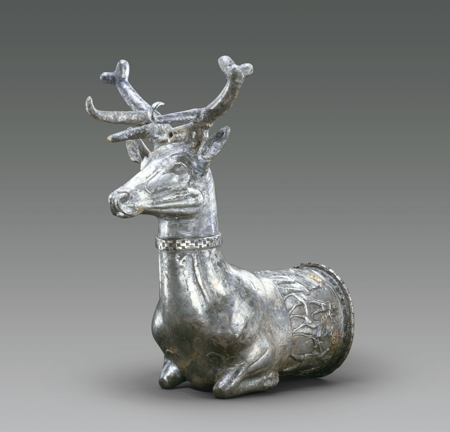 The silver vessel in the form of a stag (p.139, fig.9) is stunning, in part because it's so old: it dates as early as the 14th century BC. From Art =