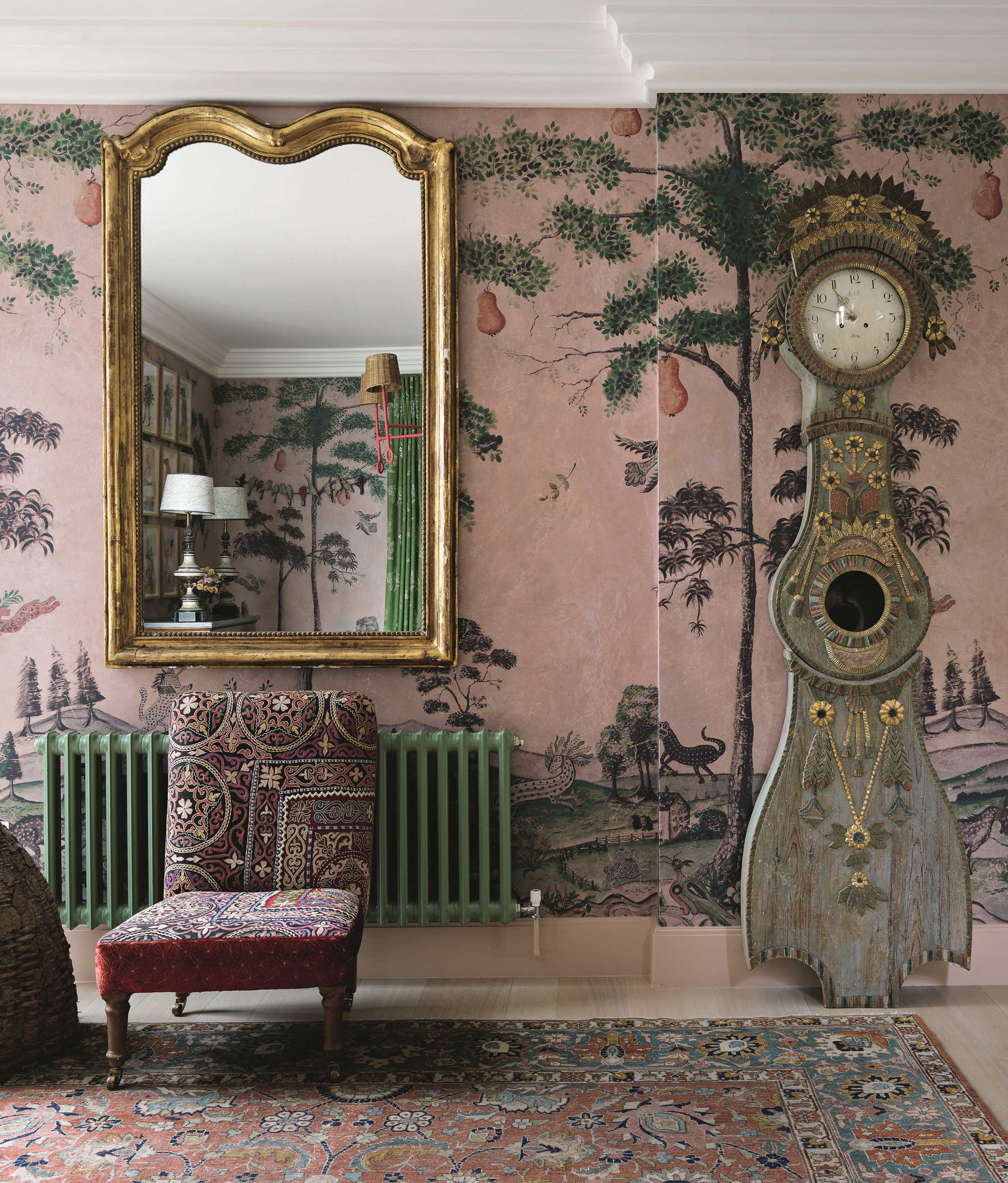 Kit Kemp: Hyde Park Gate, private residence, London, UK, 2020. Photo by Simon Brown, courtesy of Firmdale Hotels