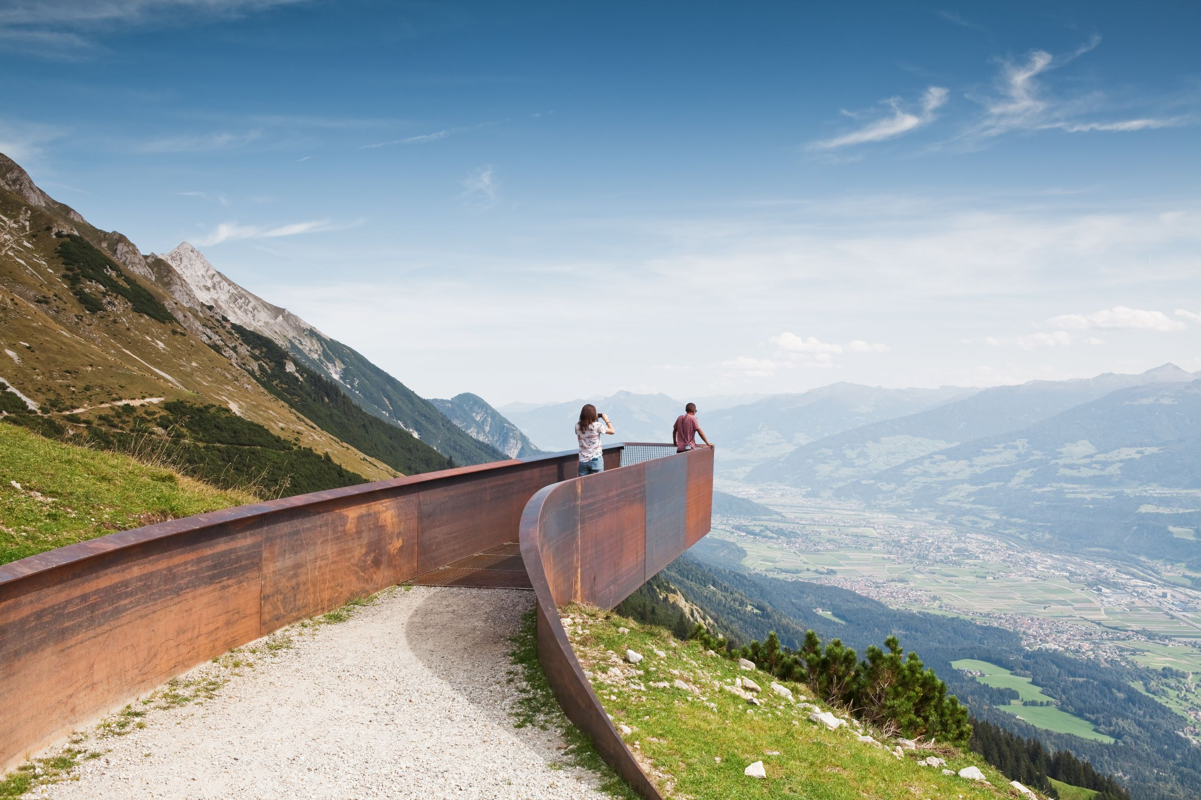 The Path of Perspectives Panorama Trail by Snøhetta. Photograph by Christian Flatscher