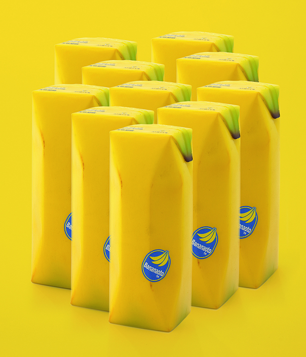 Banana drink packaging. From A Smile in the Mind
