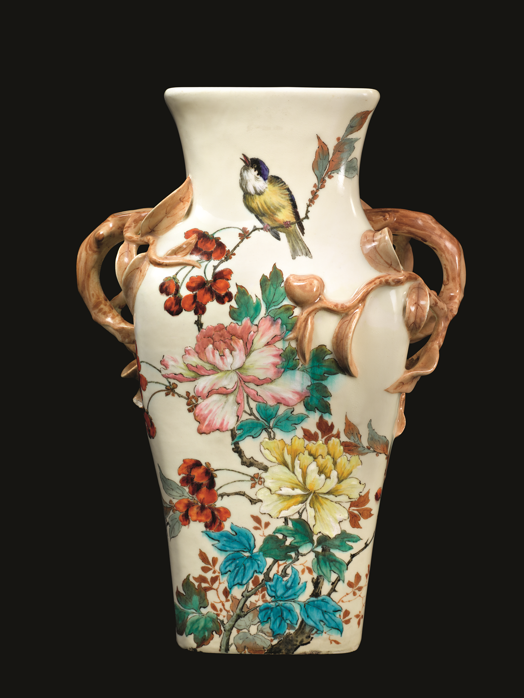 Théodore Deck, ca. 1870–90, earthenware, 19 x 14 x 10 in. (48.3 x 35.6 x 25.4 cm); from 'Vases' chapter.  Photo by Maggie Nimkin assisted by Erica Martone