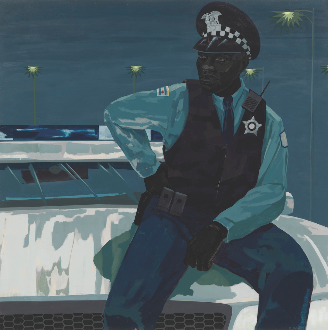 Kerry James Marshall, Untitled (policeman), 2015, from Grief and Grievance: Art and Mourning in America