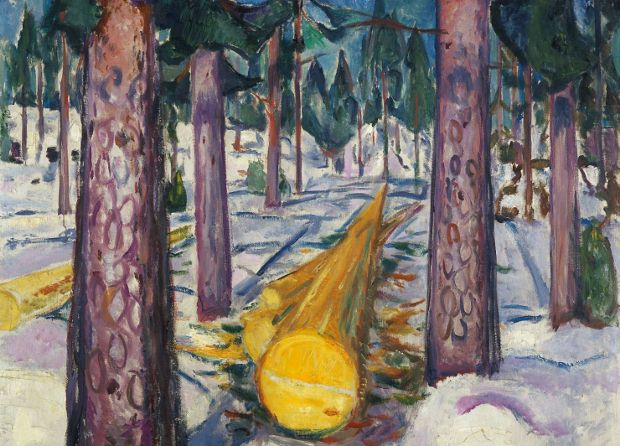 The Yellow Log (1912) by Edvard Munch