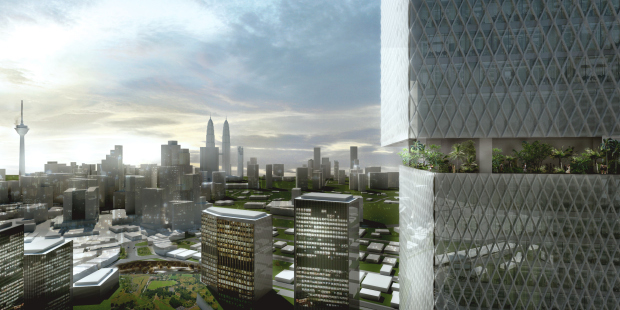 The Kuala Lumpur Signature Tower by Bjarke Ingels Group