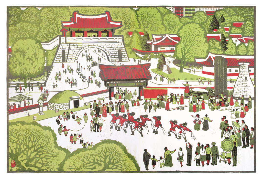 Folk Street by Ryu Sang Hyok, 2008. Courtesy of Nicholas Bonner