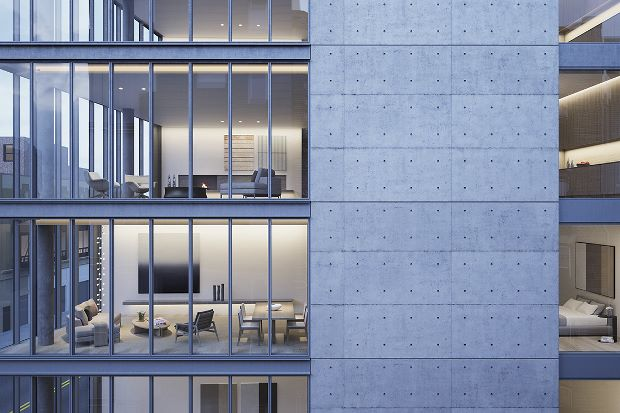 Rendering of 152 Elizabeth Street by Tadao Ando