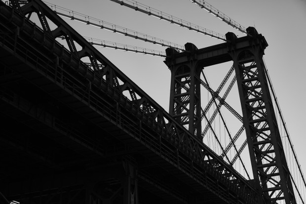 The Williamsburg Bridge, right beside Aska. Photograph by Gentl and Hyers
