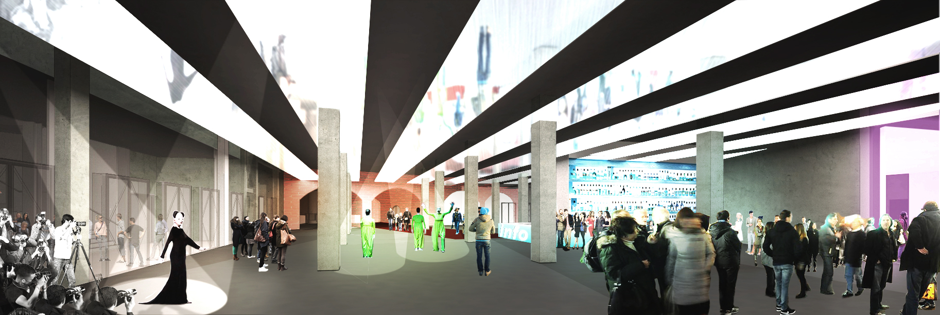 A rendering for Factory Manchester by OMA. Copyright: OMA. Image Courtesy Factory Manchester