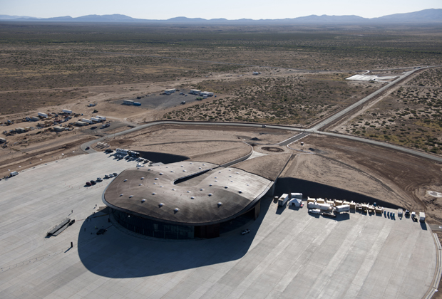 Spaceport America in New Mexico, designed by Foster + Partners, opened its' doors this week and is the world's first commercial spaceport