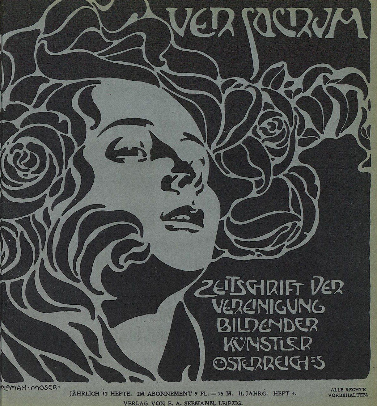 Koloman Moser, cover of Ver Sacrum II: iv, 1899 (picture credit: Universitätsbibliothek Heidelberg). From Art in Vienna