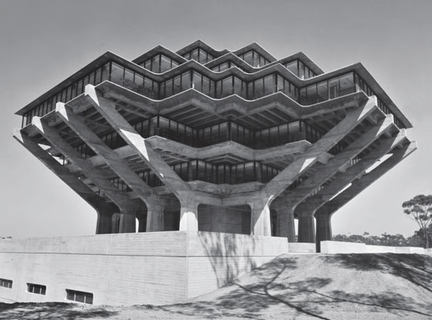 Geisel Library, University of California, San Diego, USA, 1970 by William Pereira & Associates. From This Brutal World