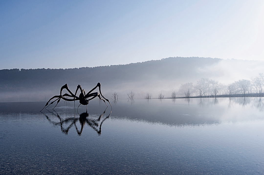 Crouching Spider, 2003, by Louise Bourgeois, Château La Coste, France, as reproduced in Destination Art
