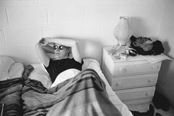 Stephen Shore: Andy Warhol in hotel room during filming of My Hustler, 1965-7