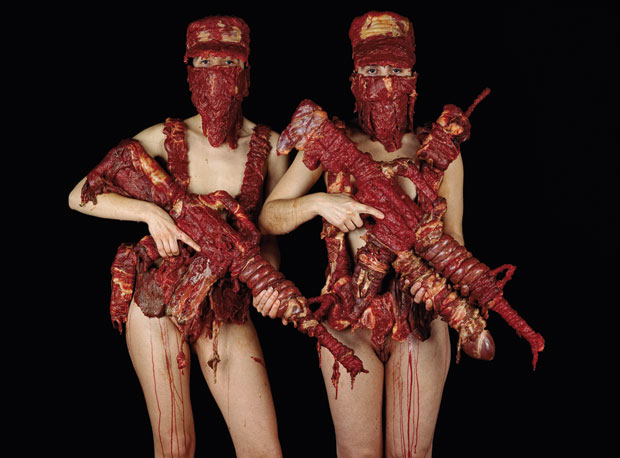 Military uniforms made of meat - Dimitri Tsykalov