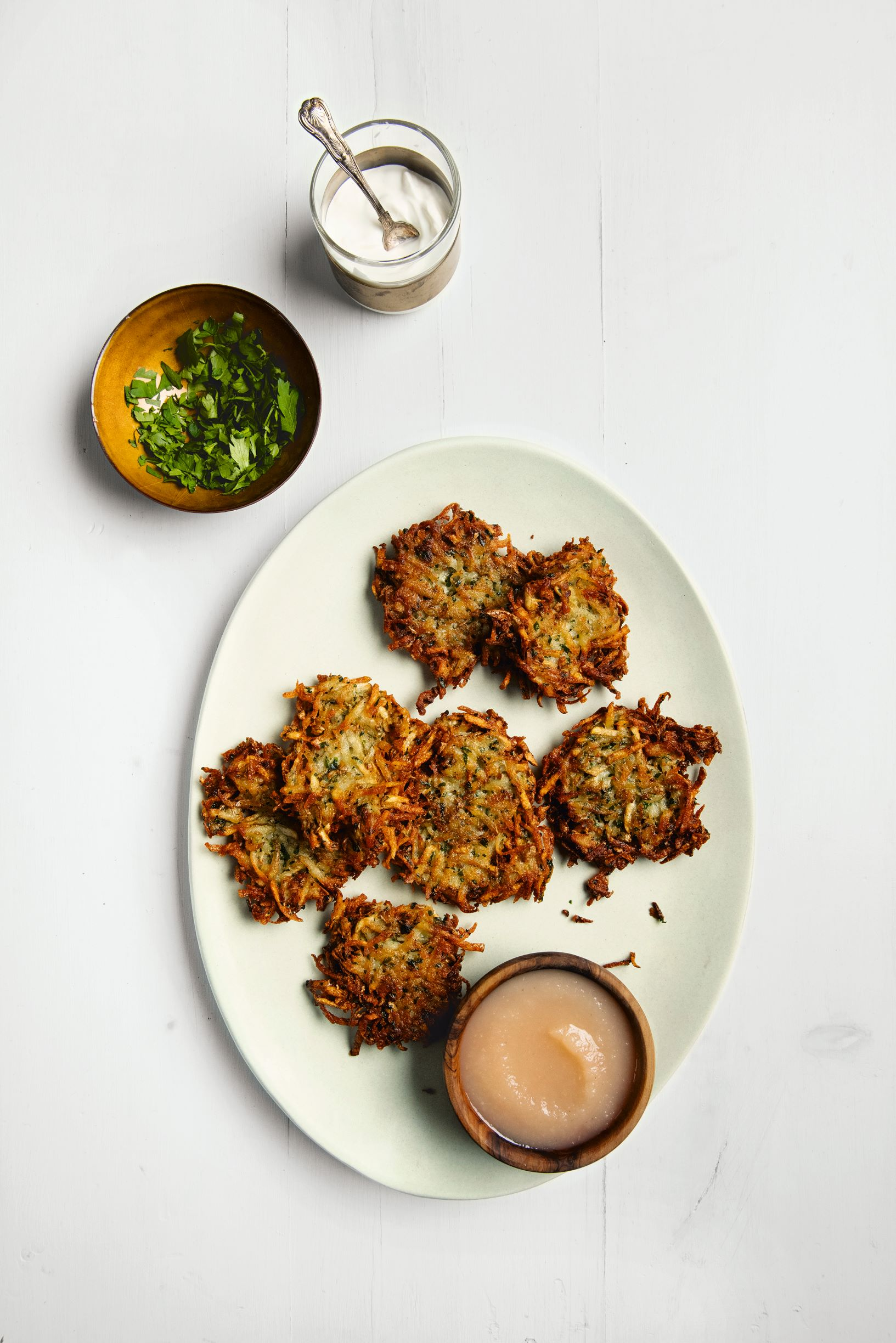 Potato latkes - The Jewish Cookbook