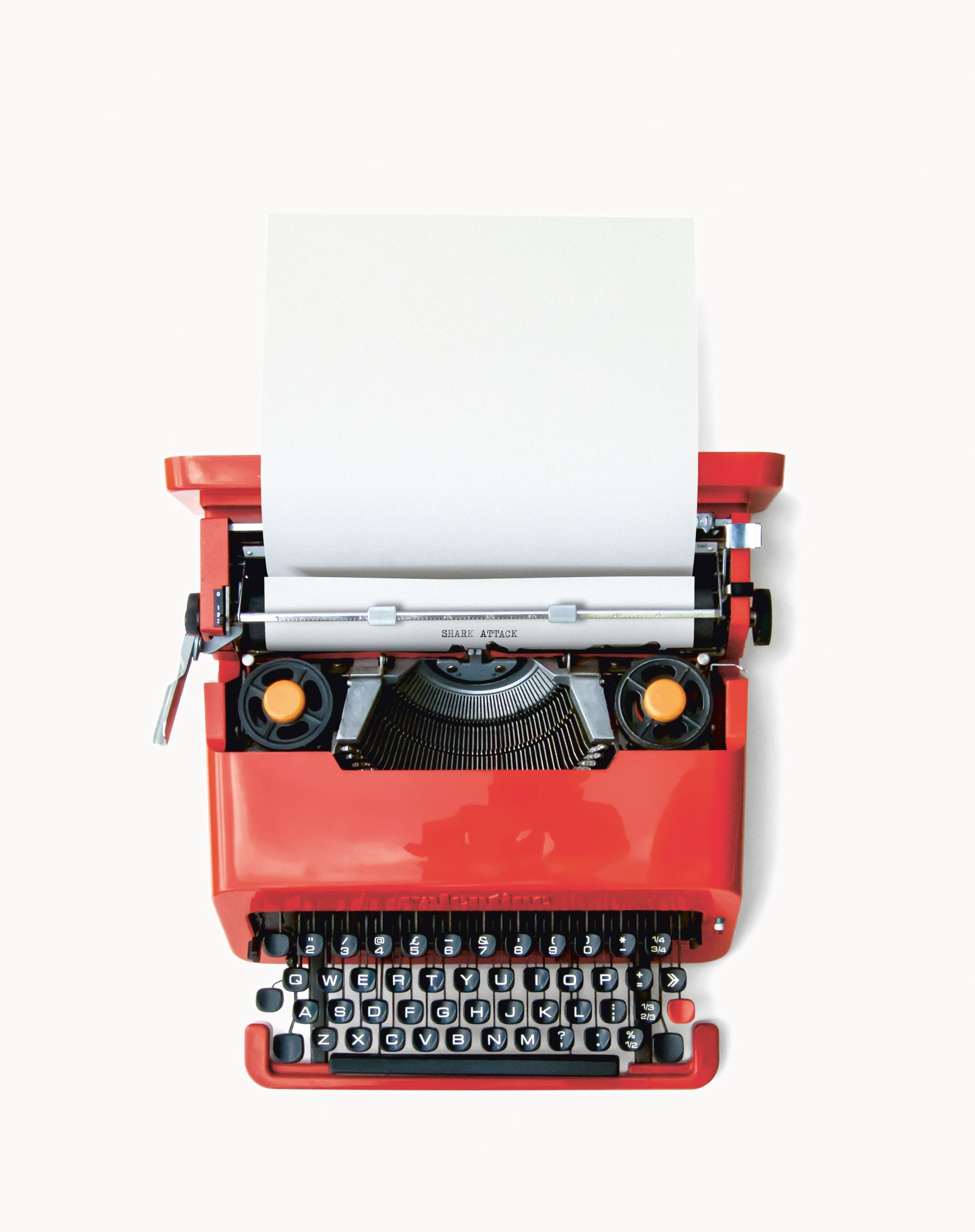 "Olivetti Valentine (1968 (nicknamed ""The Portable Red""), photograph by Bruce Atkins, collection of John Gloyne"