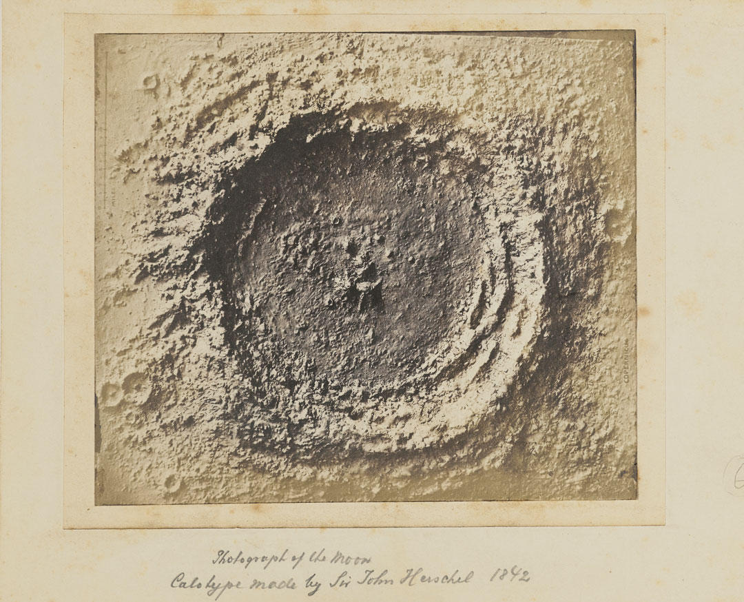 Sir John Herschel, Model of the Lunar Crater Copernicus, 1842, calotype, 13 × 16.5 cm (5¼ × 6½ in), J. Paul Getty Museum, Los Angeles, California. Image courtesy of The J. Paul Getty Museum, California. As reproduced in Sun and Moon