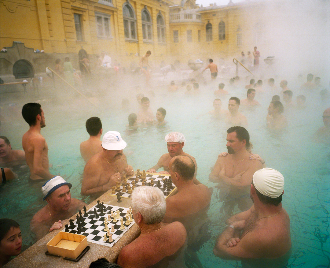 Szechenyi thermal baths, Budapest, Hungary, 1997. All photographs by Martin Parr. Copyright: © Martin Parr, Magnum Photos, Rocket Gallery