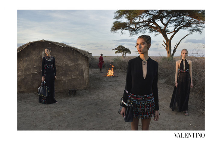 One of Steve McCurry's photographs for Valentino's Spring/Summer 2016 campaign. Courtesy of Valentino and Steve McCurry