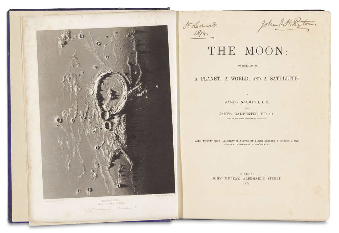 James Nasmyth and James Carpenter, The Moon, John Murray, London, 1874. Image courtesy of Rijksmuseum, Amsterdam. As reproduced in Sun and Moon
