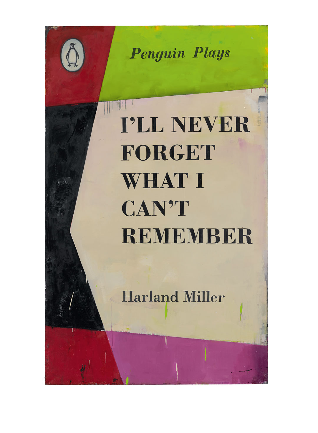 I'll Never Forget What I Can't Remember, 2013, oil on canvas, 252 × 156 cm (99 3/16 × 61 7/16 in). © Harland Miller
