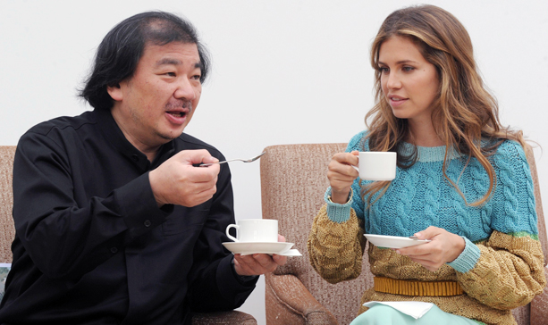 Shigeru Ban and Dasha Zhukova pictured together earlier this year