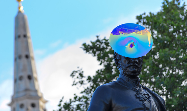 Philip Treacy's hat for the statue of Sir Henry Havelock