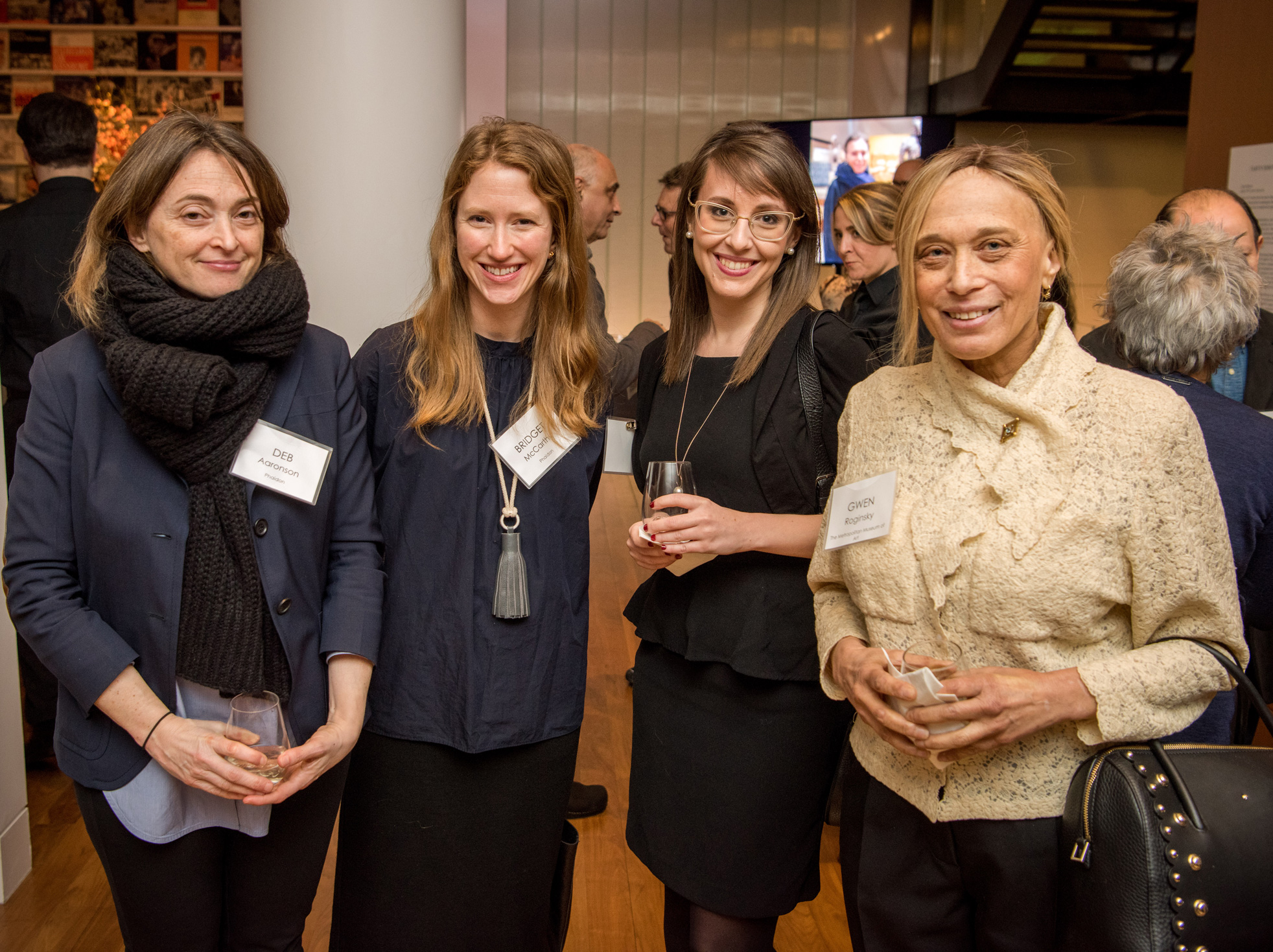 Phaidon's Group Publisher Deb Aaronson and Assistant Editor Bridget McCarthy with The Met Museum's Publishing and Marketing Assistant Rachel High and Associate Publisher Gwen Roginsky