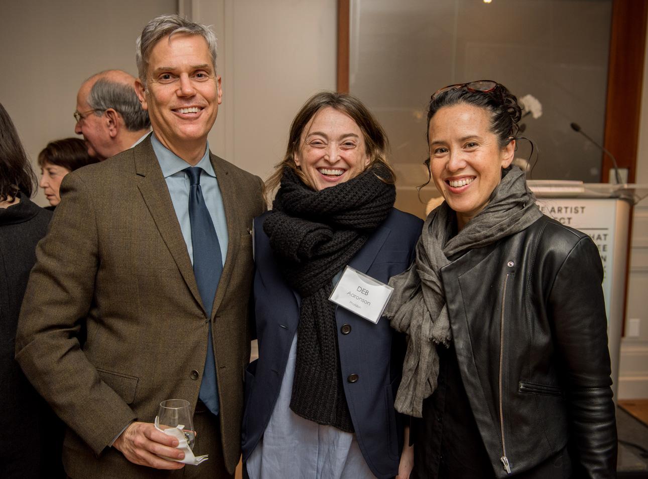 Phaidon's CEO Keith Fox and Group Publisher Deb Aaronson with artist Sarah Sze