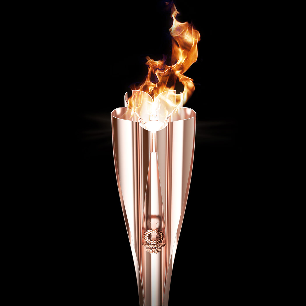 Look at the Olympic torch formed from the Fukushima quake