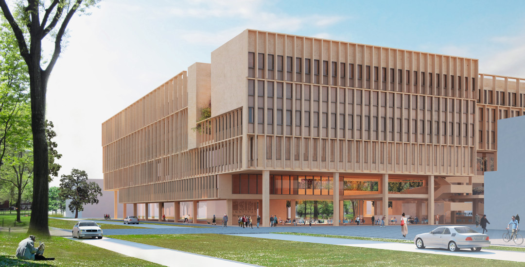 Renderings for Institut Mines-Télécom by Grafton Architects