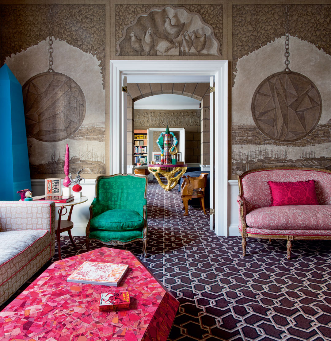 Ashley Hicks's home in the Albany, Piccadilly London. Designed by Ashley Hicks - as featured in Interiors: the Greatest Rooms of the Century