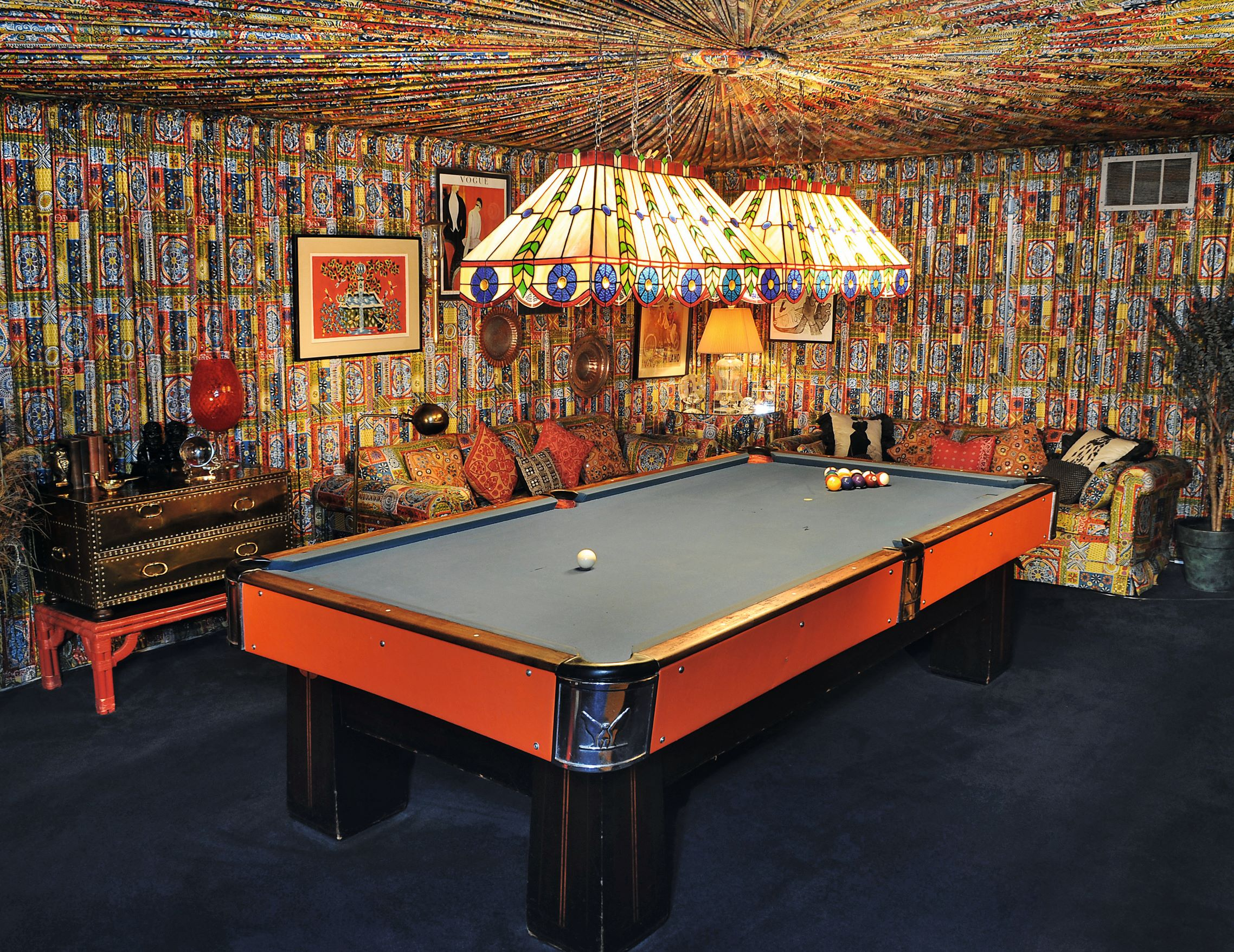 The Pool Room at at Graceland, Memphis, Tennessee, USA. Open to the public. Singer, actor. Courtesy of Elvis Presley Enterprises, Inc