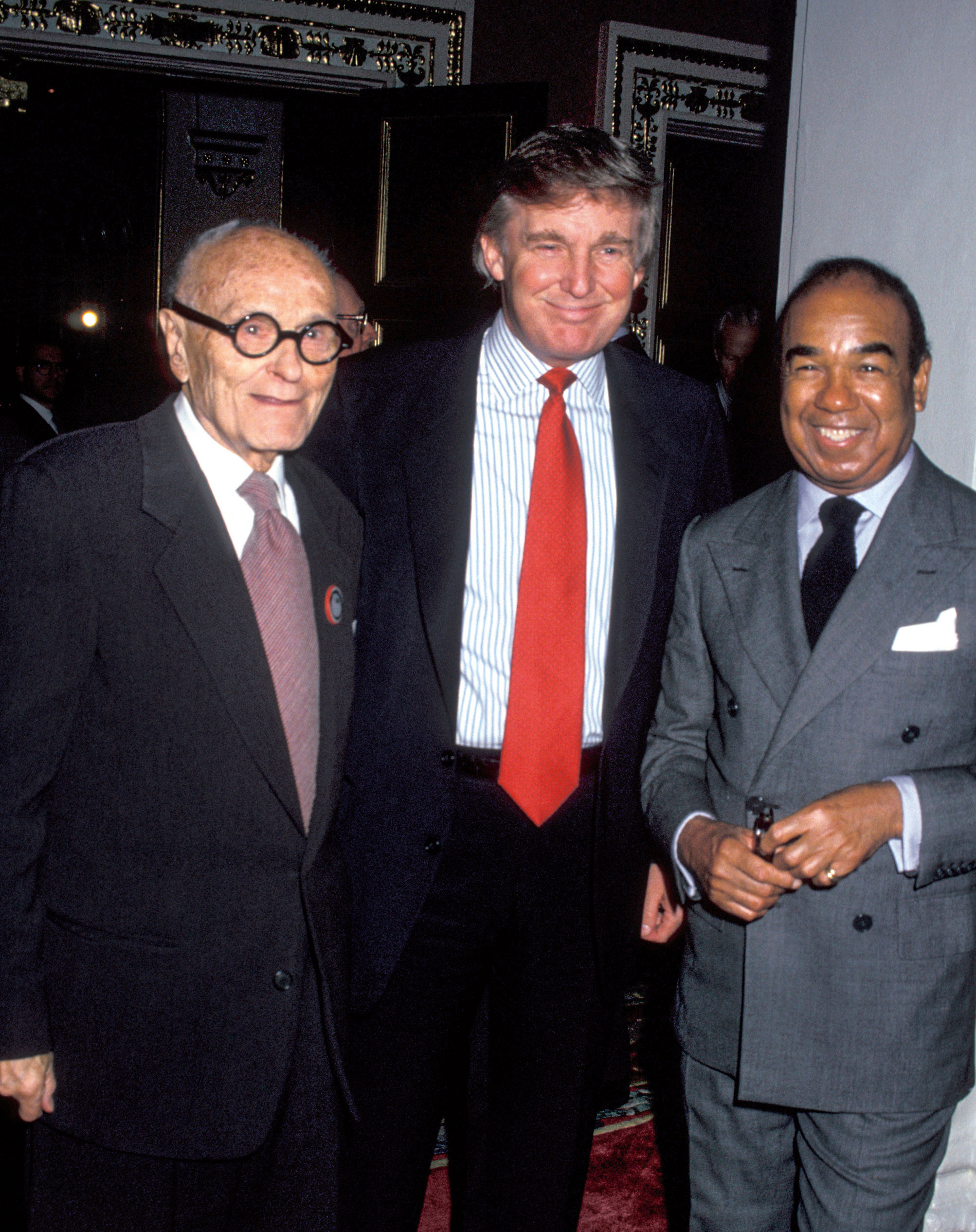 Philip Johnson, Donald Trump, and Bobby Short at Landmarks Preservation Foundation Honors Philip Johnson, the Plaza Hotel, New York, 20 October 1994. © Richard Payne, FAIA