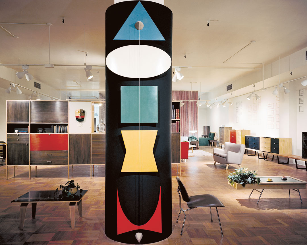 Herman Miller Chicago showroom designed by George Nelson & Co., 1949. Picture credit: Vitra Design Museum, estate George Nelson