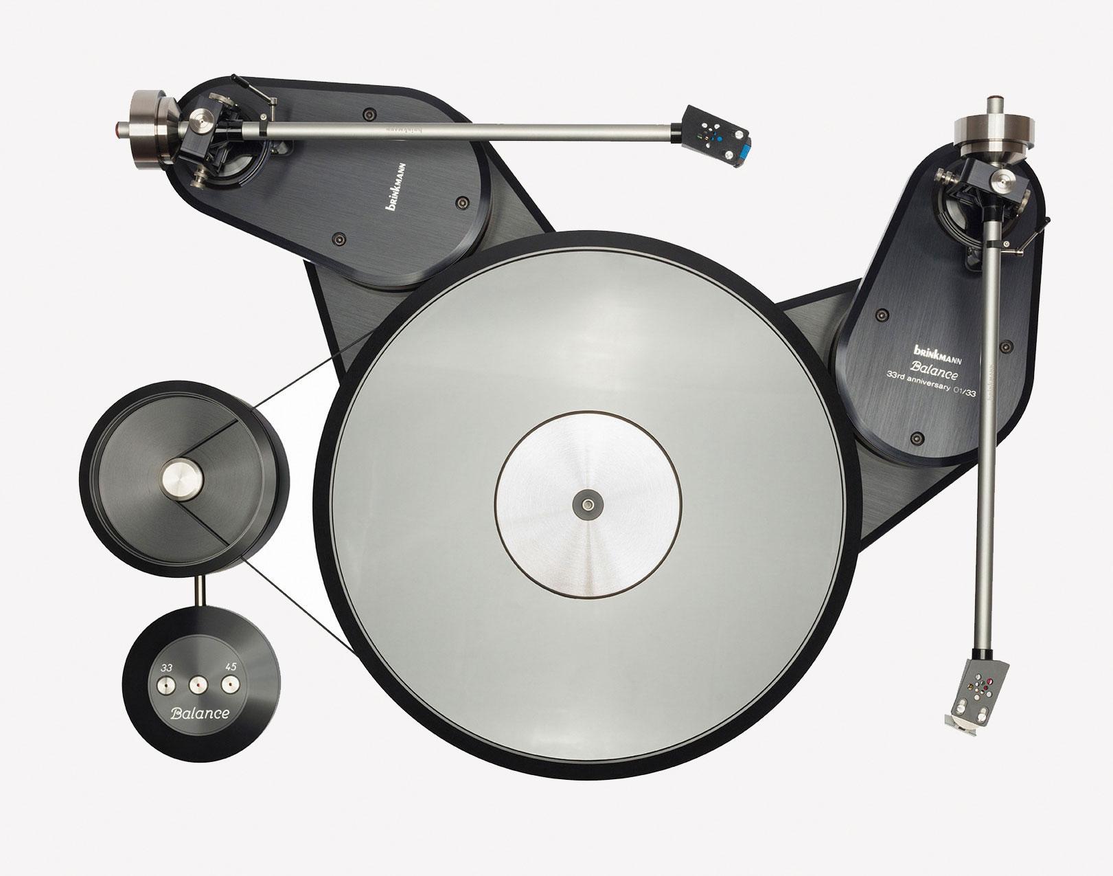 Balance Belt-Drive Turntable, 33rd anniversary edition, Brinkmann, 2018