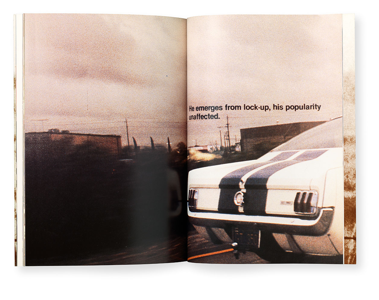 A spread from Richard Prince (1988) by Richard Prince, as reproduced in Artists Who Make Books