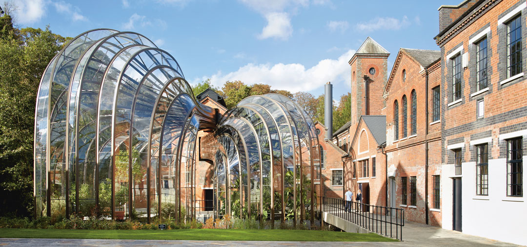 Bombay Sapphire Distillery, Heatherwick Studio; transformed 2014. Image courtesy of Heatherwick Studio, as reproduced in Ruin and Redemption in Architecture