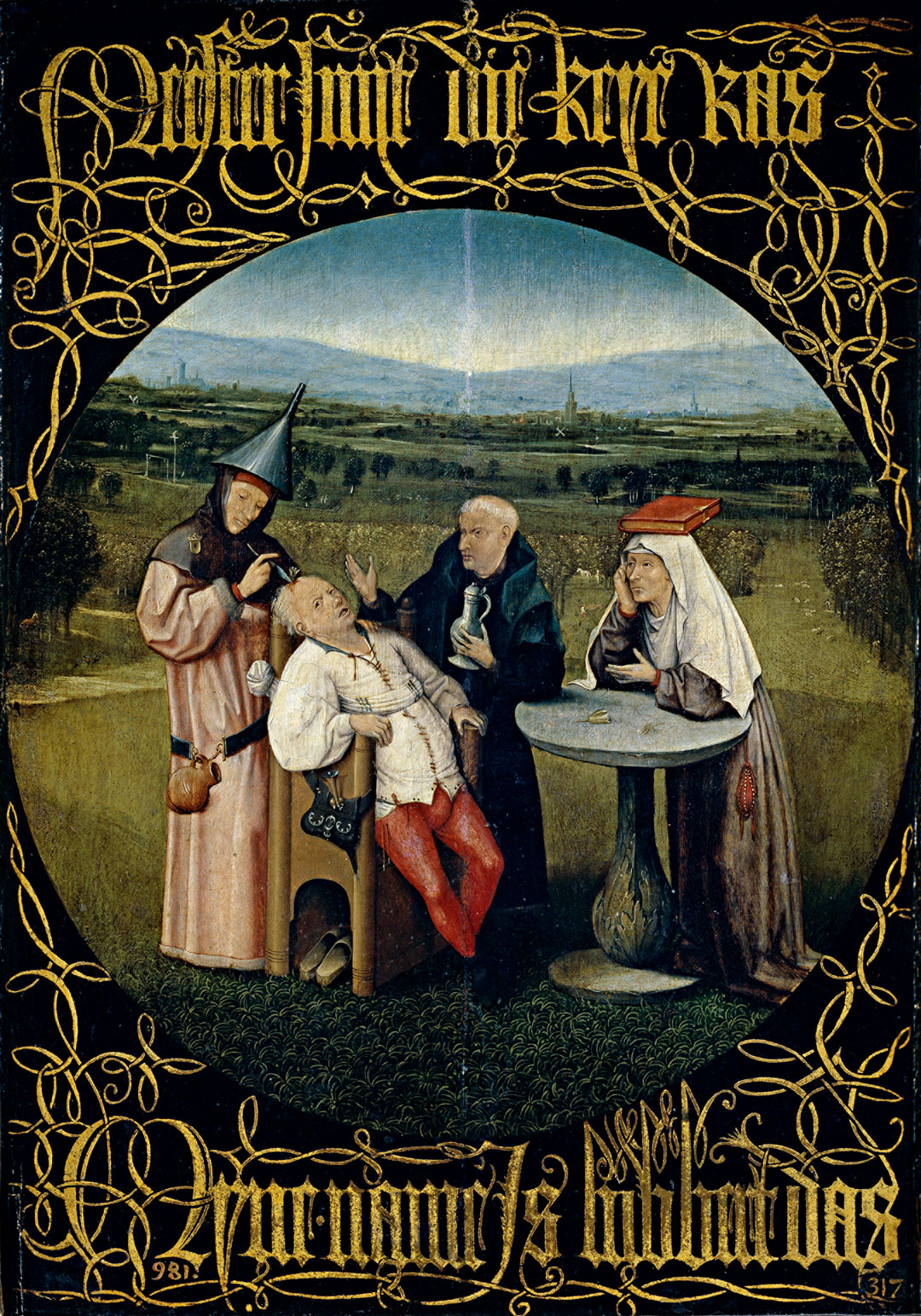 The Cure of Folly, or the Extraction of the Stone of Madness, 1501–5, Hieronymus Bosch