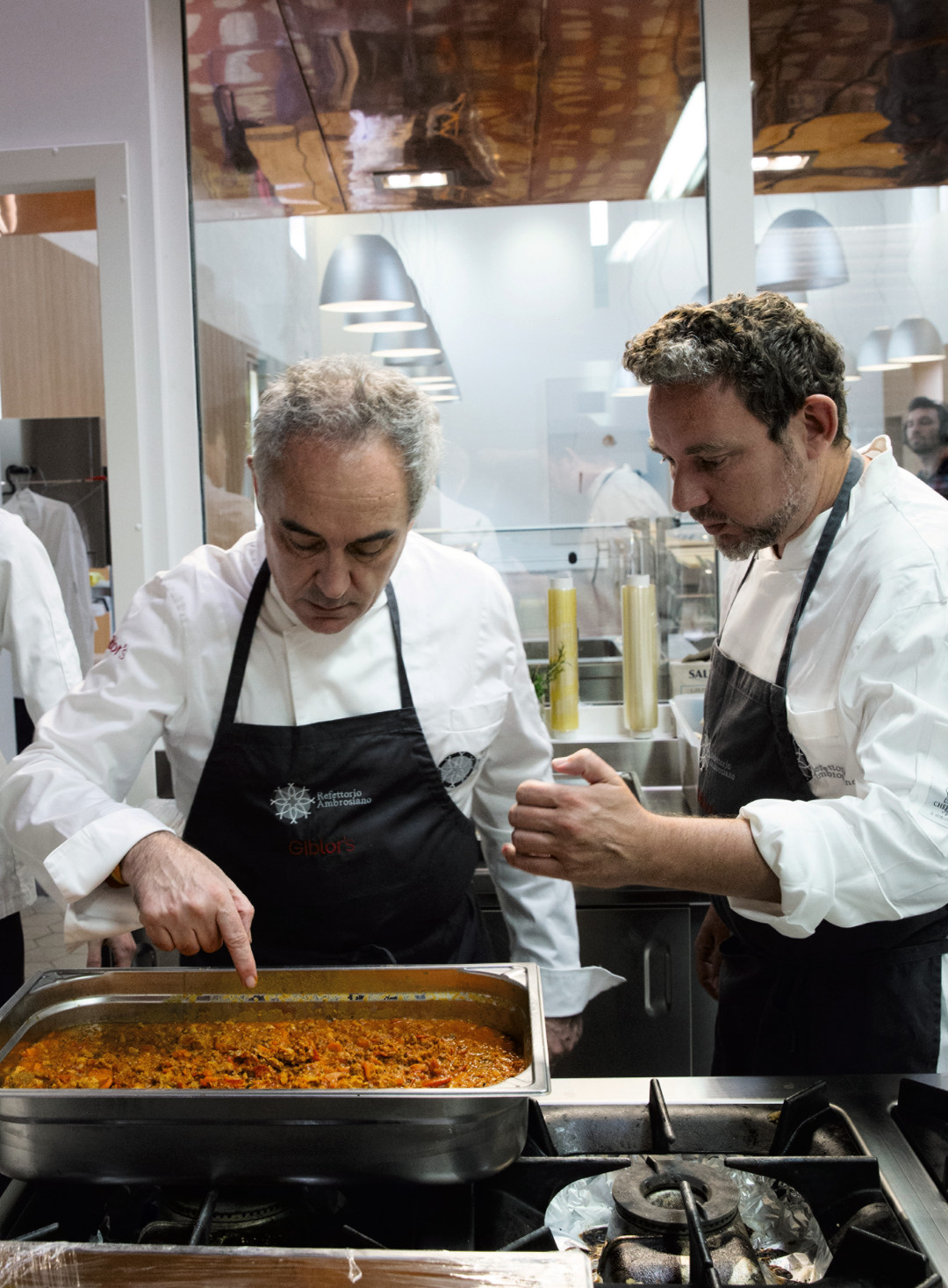 Ferran and Albert Adrià at Refettorio Ambrosiano, as reproduced in Bread is Gold